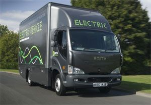 image: Smith Electric Trucks Commercial Vehicle US Newton lithium-ion batteries AT & T Staples Coca-Cola Missouri Kansas City Tanfield London Taxis International Department of Transport�s Low Carbon Vehicle Procurement Programme SEV US Corp