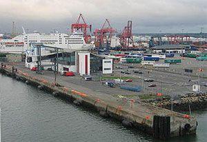 image: Dublin Milford Haven dock port oil gas bulk tankers freight transport