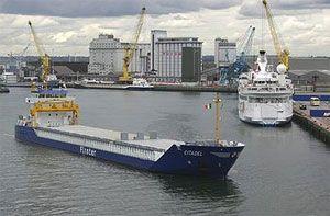 image: Dublin port strike freight traffic