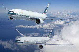 image: Boeing Cathay aircraft freighter cargo carrier