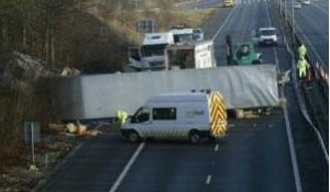 image: UK lorries truck freight RHA accident Foreign  alien