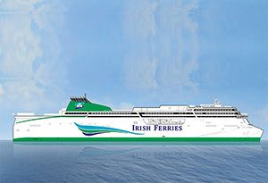 image: IRELAND Germany RoRo ferry freight trucks W B Yeats Ulysses Irish Ferries