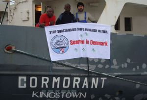 image: Denmark freight vessel crew Ghanaian Russian Frederiksvaerk sailors MV Cormorant