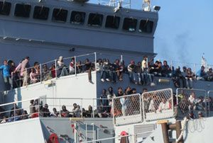 image: Europe Syria Gallipoli cargo vessel freight trucks migrant refugees diaspora