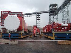 image: China Project Freight Forwarding Tuscor Lloyds Manchester Logistics jack up rig crane port Typhoon tonnes offshore