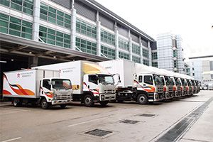 image: Hong Kong air cargo road haulage logistics