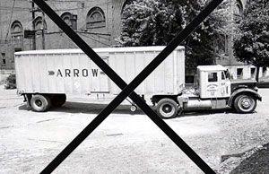 image: YRC Arrow trucking freight truck LTL