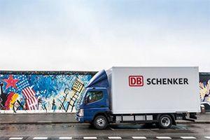 image: DHL Freight forwarding logistics Schenker Dachser electric truck Daimler transport logistics Rhenus