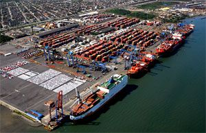 image: Brazil Tecon infrastructure port TEU shipping container