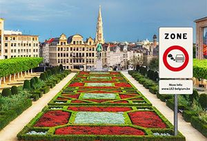 image: Belgium Brussels Low Emission Zone freight road haulage ban clean air