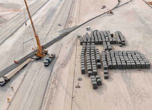 image: Etihad Rail cargo freight forwarding UAE Abu Dhabi intermodal