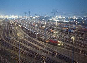 image: Austria Hungary multi modal intermodal rail freight terminal hub