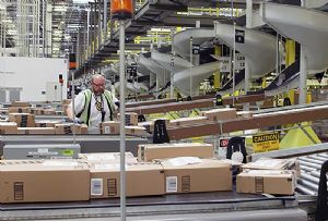image: UK Amazon UKWA warehousing Covid-19 crisis logistics labour shortage