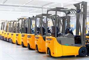 image: UK Jungheinrich Dartford materials handling freight forwarder logistics supply chain fork lift truck