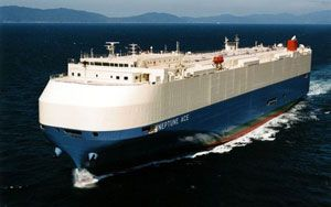 image: Japan container shipping truck carrier CO2 emissions box fleet