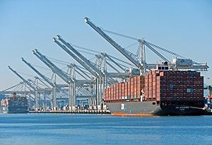 image: Port of Oakland containerised cool freight exports