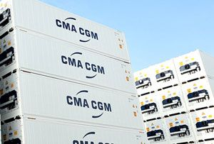 image: CMA CGM refer TEU container freight shipping services US Caribbean