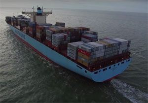 image: Denmark AP M�ller Maersk container shipping line fleet oil transport logistics energy Michael Pram Rasmussen acquisition