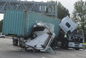 image: UK freight transport road haulage deaths halved casualties fatal accidents logistics