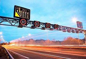 image: Freight Transport Association FTA England Highways agency truck logistics car drivers roadworks lifted road haulage