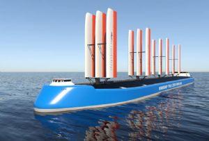 image: UK, Windship, Technology, ocean, merchant, fleet, vessel, DNV, Flettner, sails, aerofoils,