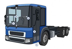 image: London truck direct vision strategy Freight transport road haulage FTA mayor