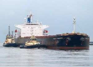 image: US Greek Italian Trident Navigator bulk cargo ship waste water magic pipe MT Marigola