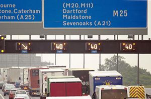 image: FTA UK Dartford Crossing M25 freight road haulage commercial vehicle drivers