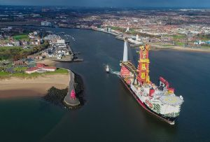 image: UK Port of Tyne offshore wind power shipping sector naturally sourced energy parts services