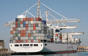 image: India container shipping line freight service feeder
