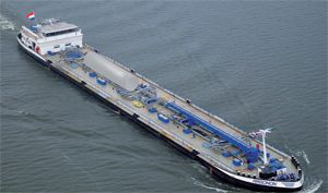 image: LNG Netherlands inland shipping biofuel