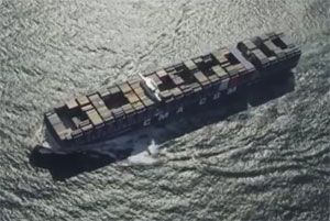 image: CMA CGM France container freight shipping line Indian Ocean TEU