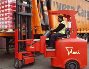 image: India narrow aisle forklift trucks air freight supply chain Flexi ITC