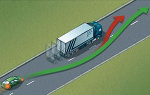 image: UK truck trailer road haulage freight lorries tonnes