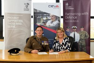 image: UK logistics Armed Forces Covenant CEVA