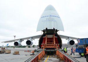 image: Russia tonnes air freight forwarding turbine Sokol Airport Ust-Srednekanskaya hydroelectric