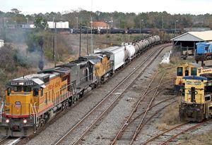 image: US rail freight cargo LaHood non hazardous trucks intermodal
