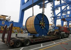 image: UK Philippines cargo cable drum reel project freight forwarding South Korea Tuscor Lloyds