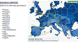 image: Europe daily overland freight forwarding airfreight distribution hub