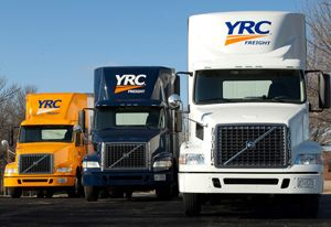 image: YRC US LTL less than truckload road haulage freight trucking