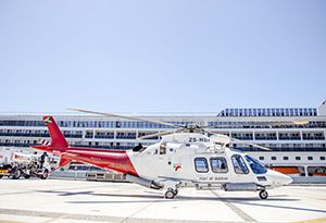 image: South Africa Italy Unique Pilotage Service AgustaWestland AW 109 helicopters ships vessels