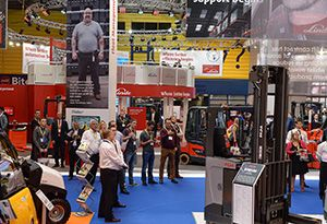 image: UK International Materials Handling Exhibition IMHX 2019 freight logistics supply chain career staff labour recruit