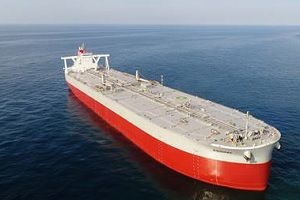 image: Japan K Line Kisogawa container automotive bulk shipping line Cosco China DWT Kawasaki Heavy Industries