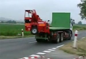 image: US France Manitou truck mounted fork lift trucks freight logistics road haulage TMMTMT Big Joe supply chain