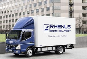 image: Rhenus Germany DHL Schenker Dachser logistics freight forwarding urban deliveries FUSO eCanter electric trucks