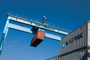 image: Panama US Finland freight shipping container handling equipment