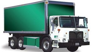 image: US Electric Truck Market Navistar Balqon Freight Vehicles shipping containers trailers carrying capacity zero tail pipe emissions lorry Manufacturers Department of Energy Elkhart County Indiana Hoosier State Senator Birch Evans