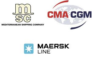 image: Maersk CMA CGM MSC freight box TEU cargo container shipping vessel cargo supply chain