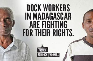 image: Madagascar dockers ITF Marks and Spencer, Skins Ltd, Next Plc and Mens' Warehouse UK