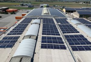 image: Austria Gebruder Weiss logistics solar power tonnes CO2